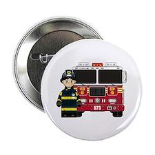 """Cute Firefighter 2.25"""" Button (100 pack)"""