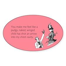 Cupid's Arrow Sticker (Oval)
