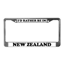 Rather be in New Zealand License Plate Frame