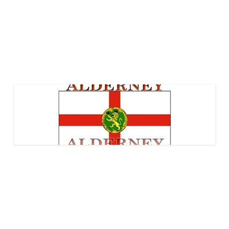 Alderney Flag 21x7 Wall Peel