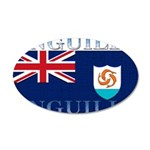 Anguilla Flag 22x14 Oval Wall Peel