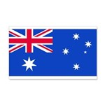 Australia Blank Flag 22x14 Wall Peel