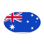 Australia Blank Flag 22x14 Oval Wall Peel