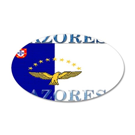 Azores Flag 22x14 Oval Wall Peel