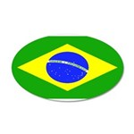 Brazil Blank Flag 22x14 Oval Wall Peel