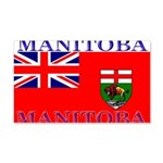 Manitoba Manitoban Flag 22x14 Wall Peel