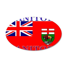 Manitoba Manitoban Flag 22x14 Oval Wall Peel