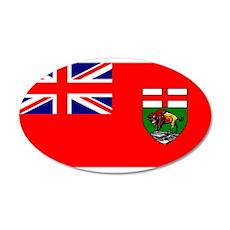 Manitoba Manitoban Blank Flag 22x14 Oval Wall Peel