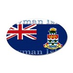 Cayman Islands 22x14 Oval Wall Peel