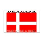 Denmark Danish Flag 22x14 Wall Peel