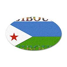 Djibouti 22x14 Oval Wall Peel