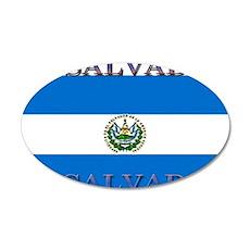 El Salvador 22x14 Oval Wall Peel