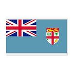 Fiji Fijian Blank Flag 22x14 Wall Peel