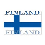 Finland Finish Flag 22x14 Wall Peel