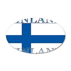 Finland Finish Flag 22x14 Oval Wall Peel