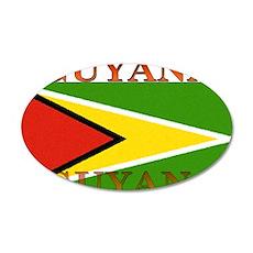 Guyana Guyanese Flag 22x14 Oval Wall Peel