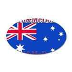 Heard & McDonald Flag 22x14 Oval Wall Peel