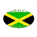 Jamaica Jamaican Flag 22x14 Oval Wall Peel