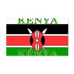 Kenya Kenyan Flag 22x14 Wall Peel
