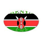 Kenya Kenyan Flag 22x14 Oval Wall Peel