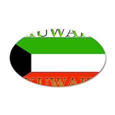 Kuwait Kuwaiti Flag 22x14 Oval Wall Peel