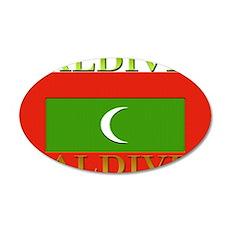 Maldives 22x14 Oval Wall Peel
