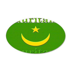 Mauritania 22x14 Oval Wall Peel