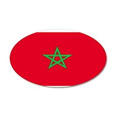 Morocco Moroccan Blank Flag 22x14 Oval Wall Peel
