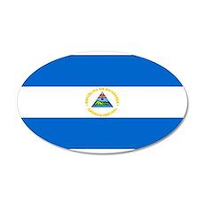 Nicaragua Nicaraguan Blank Fl 22x14 Oval Wall Peel