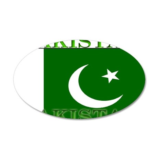 Pakistan Pakistani Flag 22x14 Oval Wall Peel