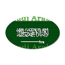 Saudi Arabia Arabian Flag 22x14 Oval Wall Peel