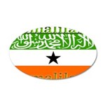 Somaliland Somali Flag 22x14 Oval Wall Peel