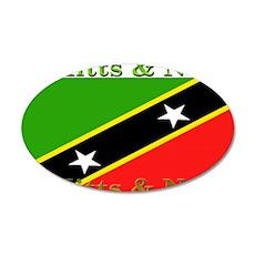 St Kitts & Nevis 22x14 Oval Wall Peel