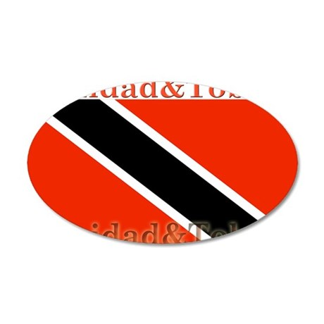 Trinidad & Tobago Flag 22x14 Oval Wall Peel