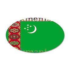 Turkmenistan 22x14 Oval Wall Peel