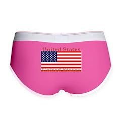 USA American Flag Women's Boy Brief