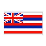 Hawaii Hawaiian Blank Flag 22x14 Wall Peel