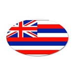 Hawaii Hawaiian Blank Flag 22x14 Oval Wall Peel