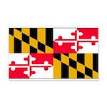 Maryland Blank Flag 22x14 Wall Peel