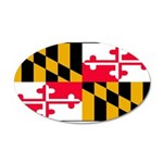 Maryland Blank Flag 22x14 Oval Wall Peel