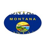 Montana State Flag 22x14 Oval Wall Peel