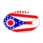 Ohio State Flag 22x14 Oval Wall Peel
