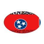 Tennessee State Flag 22x14 Oval Wall Peel
