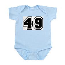 Varsity Uniform Number 49 Infant Creeper