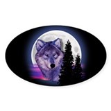 Moon Wolf Decal
