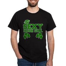 Sexy Irish Girl Irish Black T-Shirt