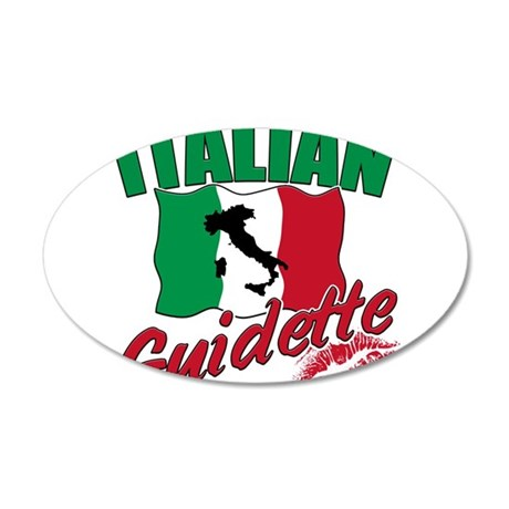 italian pride 38.5 x 24.5 Oval Wall Peel