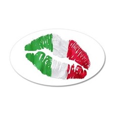 Italian kiss 22x14 Oval Wall Peel