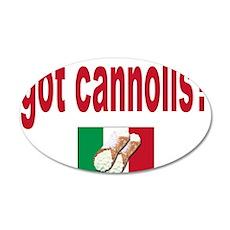 got cannolis 22x14 Oval Wall Peel