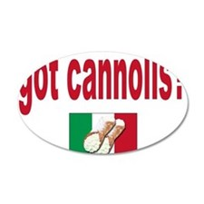 got cannolis 22x14 Oval Wall Peel